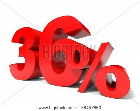 Red Thirty Six Percent Off. Discount 36%.
