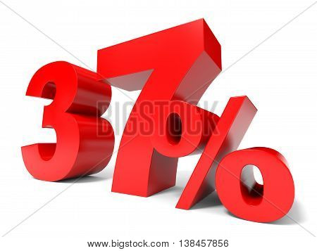 Red Thirty Seven Percent Off. Discount 37%.