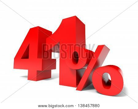 Red Forty One Percent Off. Discount 41%.