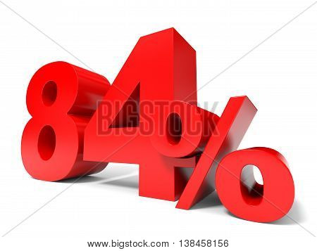 Red Eighty Four Percent Off. Discount 84%.
