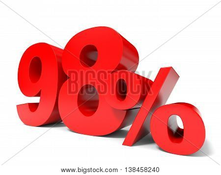 Red Ninety Eight Percent Off. Discount 98%.