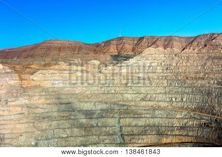 Open pit copper mine in northern Chile