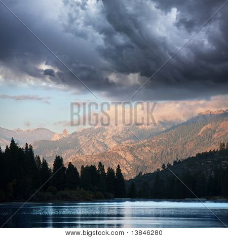 Humo  lake on sunset