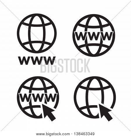 Web Icons set network sign template design element eps0