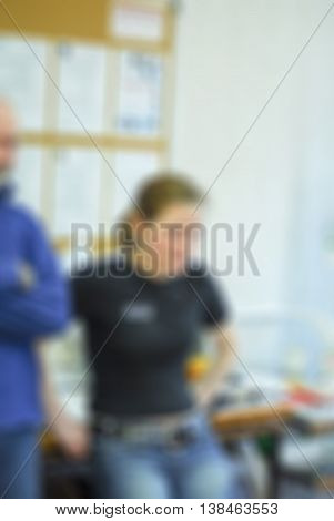First aid course theme creative abstract blur background with bokeh effect