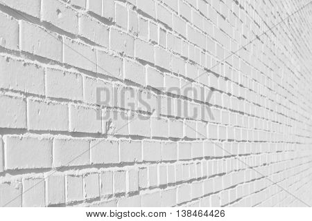 The nice white brick texture can be used as a background