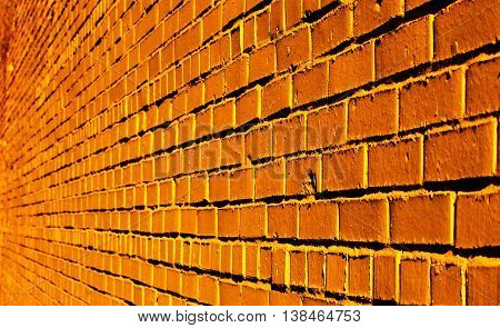 The nice orange brick texture can be used as a background