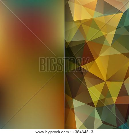 Background Made Of Triangles. Square Composition With Geometric Shapes And Blur Element. Eps 10 Brow