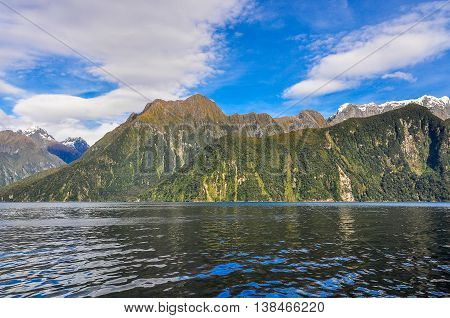 Mountaineous Landscape In The Milford Sound, New Zealand