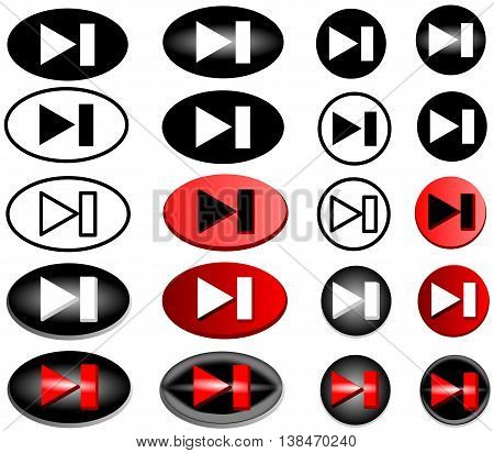 next web icon , forward icon -button , forward , vector icon set