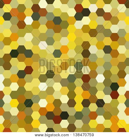 Vector Background With Hexagons. Can Be Used For Printing Onto Fabric And Paper Or Decoration. Yello