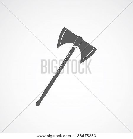Axe with long wooden stick in ancient style