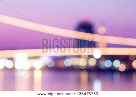 City at night - blurred photo