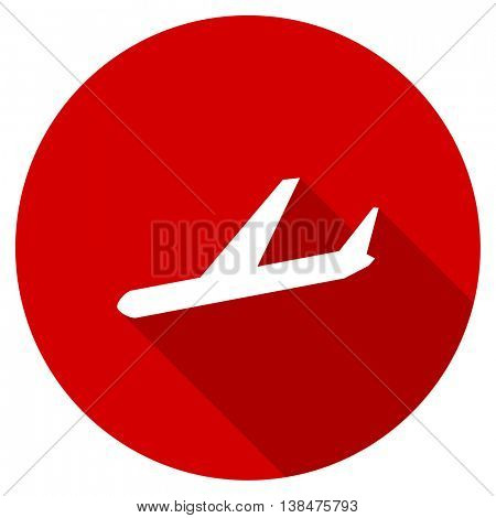 arrivals vector icon, red modern flat design web element