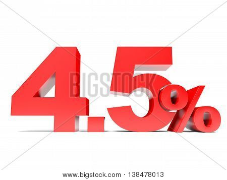 Red Four Point Five Percent Off. Discount 4.5 Percent.
