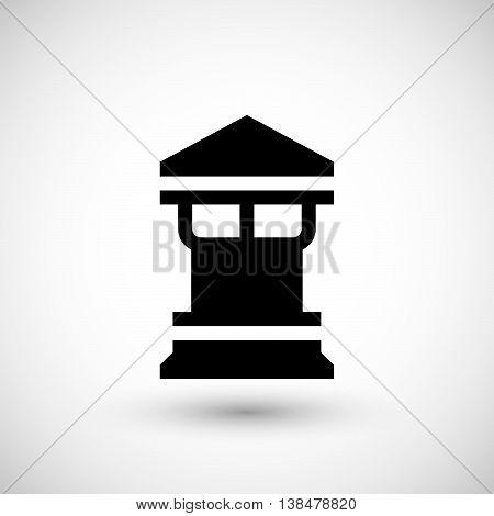 Modern chimney icon isolated on grey. Vector illustration