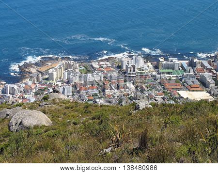 View Of Sea point From Signal Hill, Cape Town South Africa 04