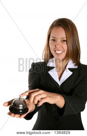 Cute Customer Service Woman