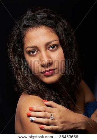 Young Girl With Red Nails