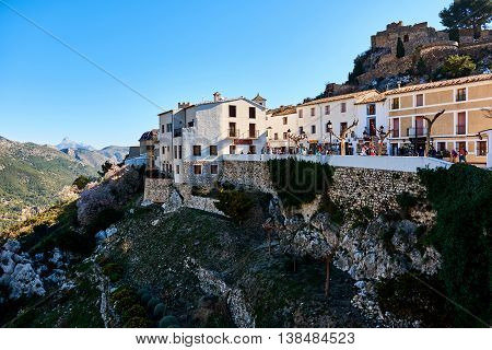 Old Town Of Guadalest. Spain