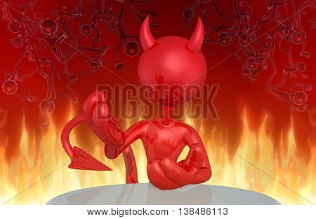 Devil Character 3D Illustration