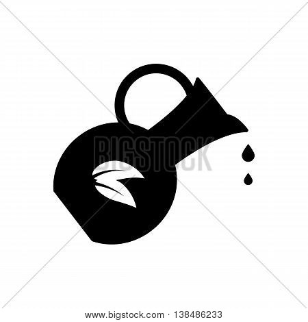 Jug icon isolated on white background. Silhouette vector illustration