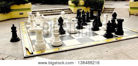 picture of a Outdoor Chess board in prilep macedonia