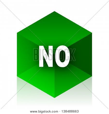 no cube icon, green modern design web element
