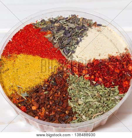 A set of east spices for cooking meat
