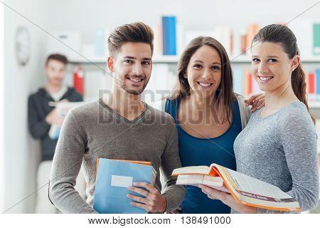 Schoolmates Posing Together