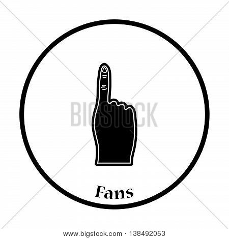 Fans Foam Finger Icon