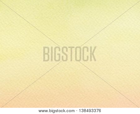 the faded flat yellow paint watercolor background