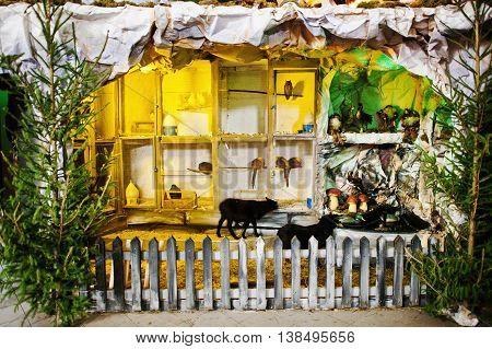 Very Large Christmas Nativity Crib