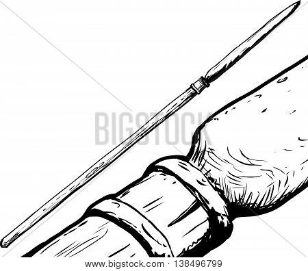 South Saami Spear Illustration