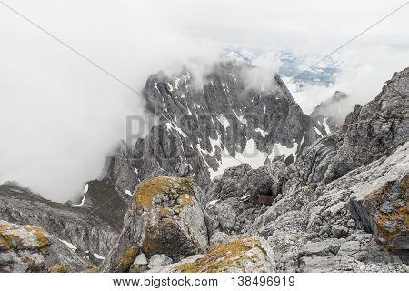 view from Ellmauer Halt mountain in austria