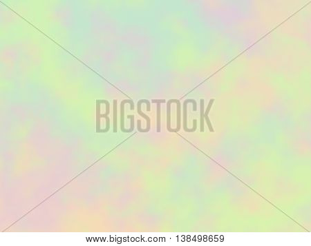 Light pastel multicolored abstract background, raster. Digitally generated soft abstract blur with random peachy blue green and purple stains.