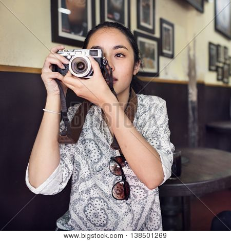 Camera Photgraph Leisure Lifestyle Vacation Concept