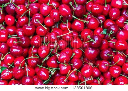 Background Picture With Red Cherries