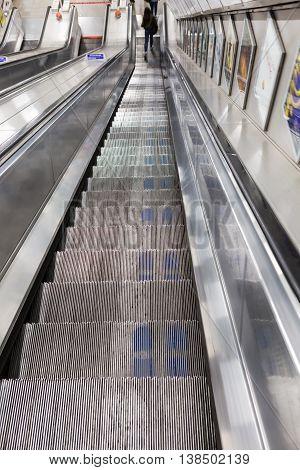 Escalator To The Subway