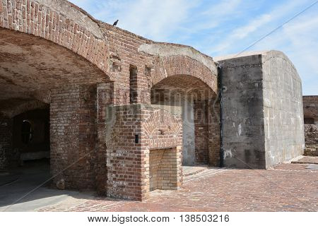 CHARLESTON SOUTH CAROLINA 06 25 2016: Fort Sumter is a sea fort in Charleston notable for 2 battles of the American Civil War. was one of a number of many special forts planned after the War of 1812
