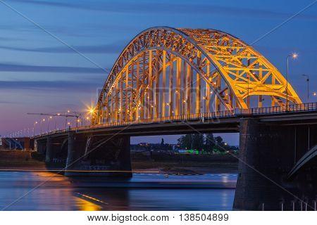 Beautiful Waal Bride at sunset Nijmegen Netherland