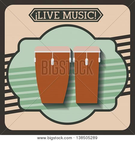 live music frame retro isolated icon design, vector illustration  graphic
