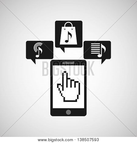 app store on phone icon, vector illustration