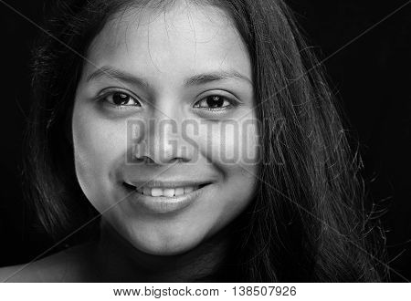Close Up Portrait Of Girl