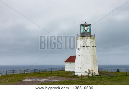 The new lighthouse at Cape Spear Newfoundland at the easternmost part of North America