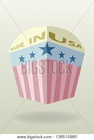 Made in USA badge. USA original product flat style .
