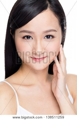 Young woman with healthy complexion
