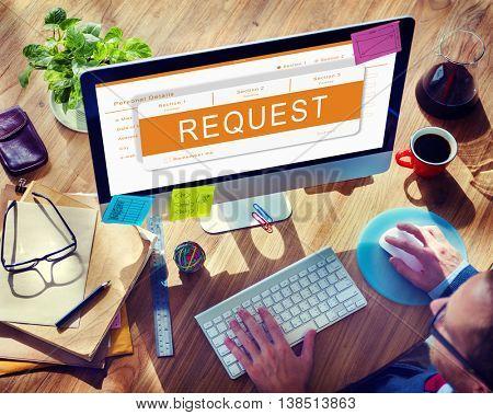 Online Application Registration Form Graphics Concept
