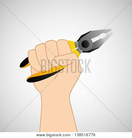 hand holding construction tool wire Strippers, vector illustration