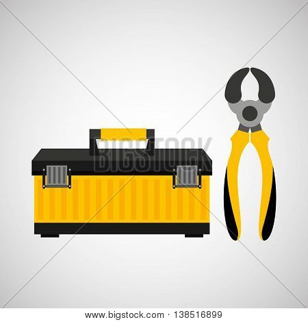Wire Strippers and construction tool icon, vector illustration